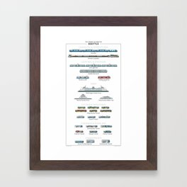 Guide - The Transit of Greater Seattle Framed Art Print