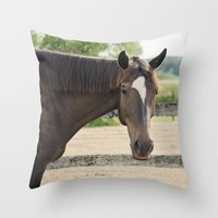 charlie Throw Pillows featuring Charlie by Images by Nicole Simmons