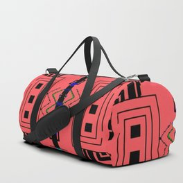 Hyper dimensional 8bit Fabric Duffle Bag