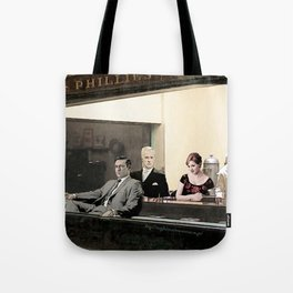 mad men characters are Hopper's Nighthawks Tote Bag