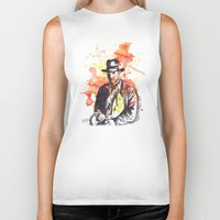 indiana jones Biker Tanks featuring Indiana Jones by idillard
