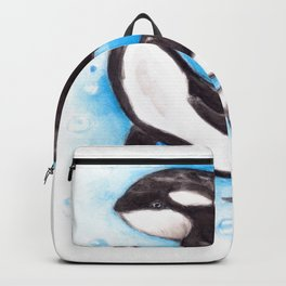 Orca Playing Backpack