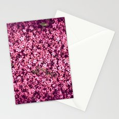 Pretty Pink Flowers Stationery Cards