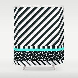 Memphis pattern 86 Shower Curtain
