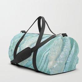 """Aquamarine Pastel and Teal Agate Crystal"" Duffle Bag"
