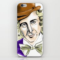 willy wonka iPhone & iPod Skins featuring Willy Wonka by Bubble Trump Ltd
