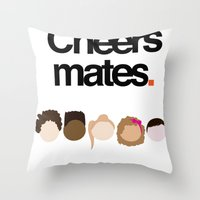 misfits Throw Pillows featuring Misfits Cheers by The Kid