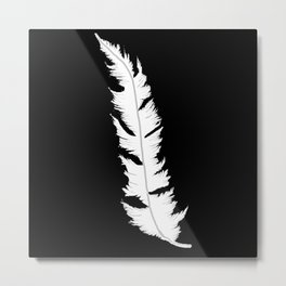 White feather Metal Print