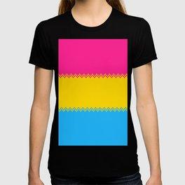 pixel pride- pansexual pride flag T-shirt