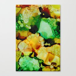 Emerald and Amber Canvas Print