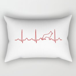 German Shepherd Heartbeat Rectangular Pillow