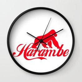 harambe the caring gorilla Wall Clock