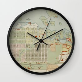 Vintage Map of Oulu Finland (1886) Wall Clock