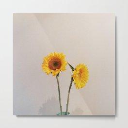 Sunflowers Minimalistic Metal Print