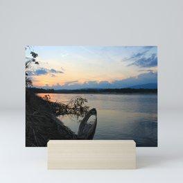 Napo River Sunset, Ecuador Mini Art Print