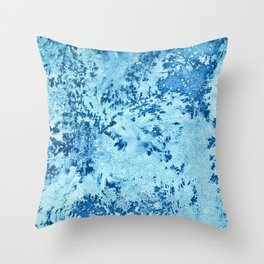 Color Fields: Winter Frost Throw Pillow