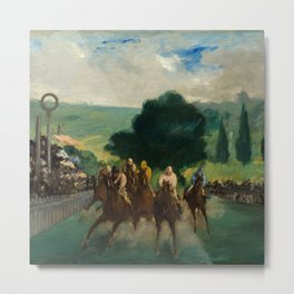 """Édouard Manet """"The Races at Longchamp"""" Metal Print"""