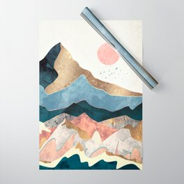 Golden Peaks Wrapping Paper