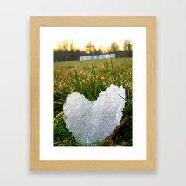 Heart of Ice Framed Art Print