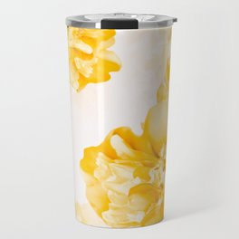 Beautiful Peony Flowers White Background #decor #society6 #buyart Travel Mug