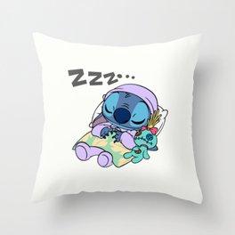 Sleeping Stitch Throw Pillow