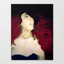 Realistic Portrait, Ariel Canvas Print