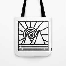 minmal mountain Tote Bag