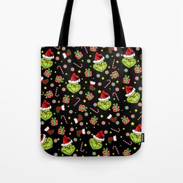 Grinch pattern Tote Bag