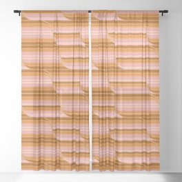 Geo Stripes - Butterscotch Sheer Curtain