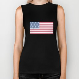 USA American Perfection US Flag Stars and Stripes Biker Tank