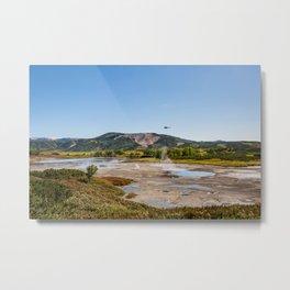 Bear Resort: Caldera Uzon Metal Print