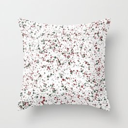 Holiday Splatter Print Throw Pillow