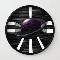 saturn Wall Clocks featuring Saturn by Isaak_Rodriguez