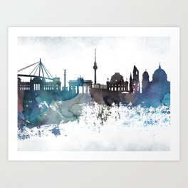 Berlin colorful canvas Art Print
