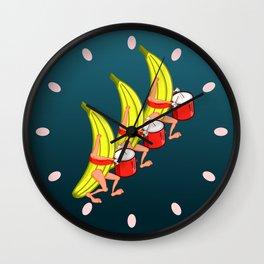 Banana Marching Band Wall Clock