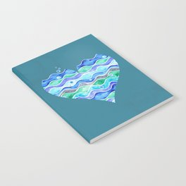 A Sea of Love (blue) Notebook