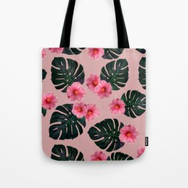 Tropical pattern n.1 - pink Tote Bag