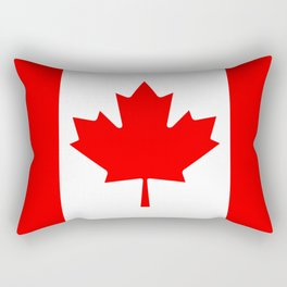 Canadian National flag, Authentic color and 3:5 scale version Rectangular Pillow