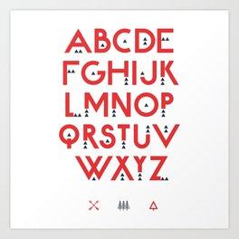 Alphabet Test Art Print