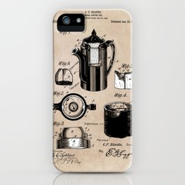 patent China Coffee pot - Blanke - 1909 iPhone Case