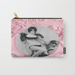 Femme Fatale - Pin Up - Pastel Pink Frame - Roses  Carry-All Pouch