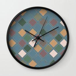 Blueprint Geometric Pattern 4 Wall Clock