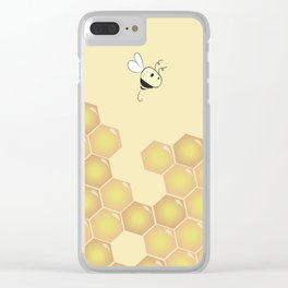 Bees Clear iPhone Case