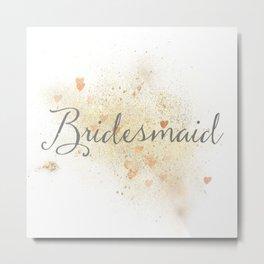 Shining Bridesmaid Metal Print