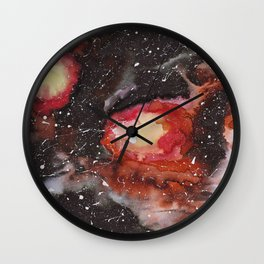 Burning galaxy Wall Clock