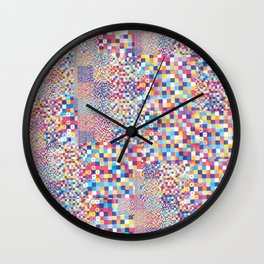 Pixel pattern  Wall Clock