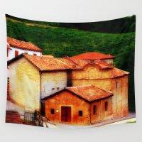 italian Wall Tapestries featuring ✔️Italian Farmhouse by Tru Images Photo Art