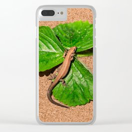 I am busy, I am tanning Clear iPhone Case