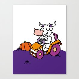 The Cow Side of Life Canvas Print