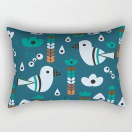 Little birds, flowers and fruits Rectangular Pillow